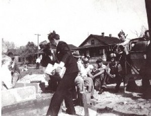 Bro. Branham Laying Cornerstone