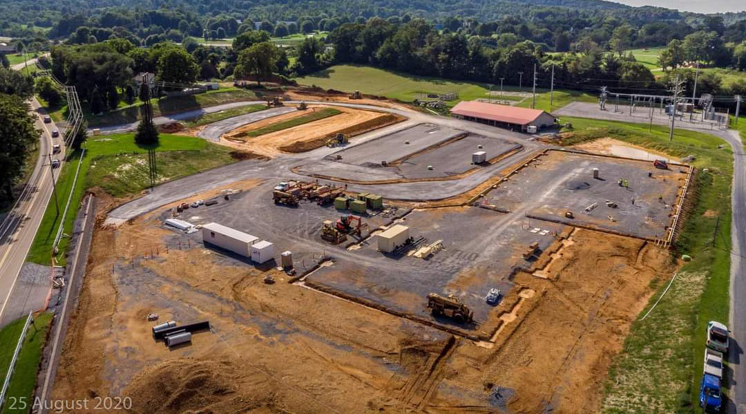 Aerial of Church Construction August 25, 2020